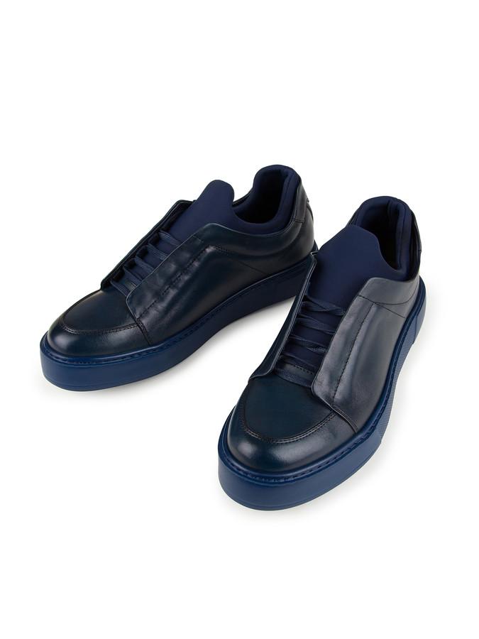 XINT - Xint Eva Taban Kumaş Detaylı %100 Deri Ayakkabı (1)