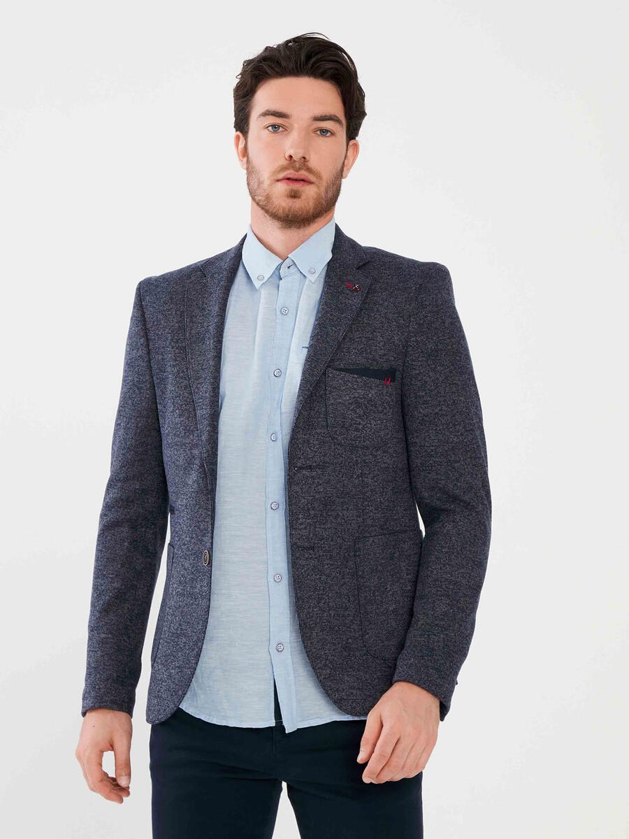 İki Düğmeli Slim Fit Ceket