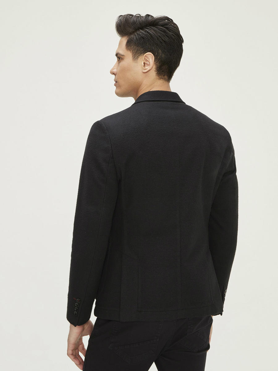 Çift Yırtmaçlı Cepli Slim Fit Ceket