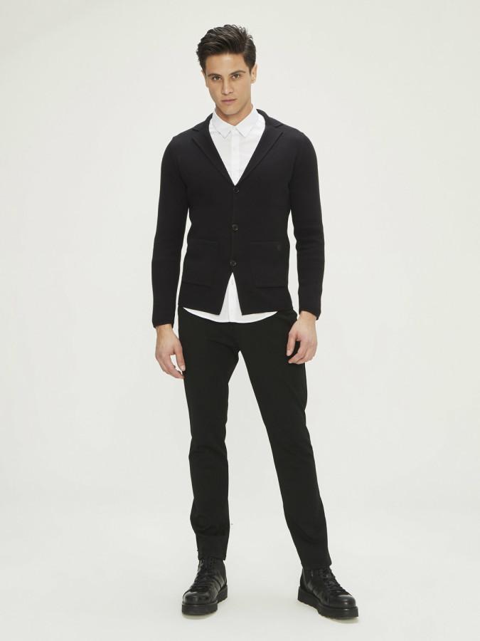 Xint Düğmeli Triko Şık Ceket