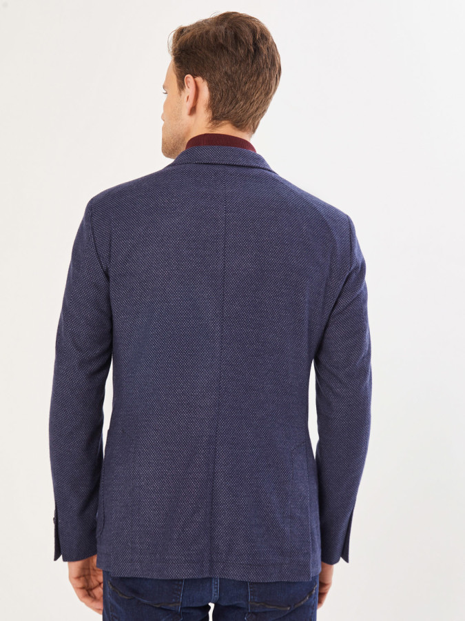 Xint Slim Fit Düğme Kapamalı Üstten Cepli Ceket - Thumbnail