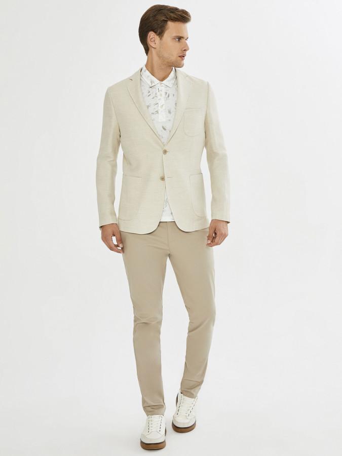 XINT - Xint Slim Fit Keten Karışımlı Ceket (1)