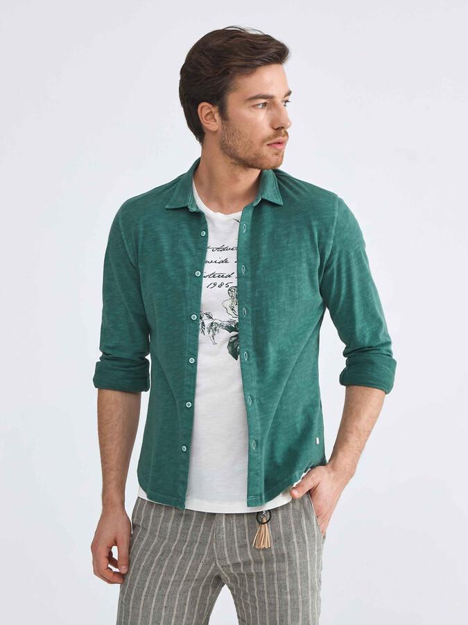 %100 Pamuk Slim Fit Gömlek
