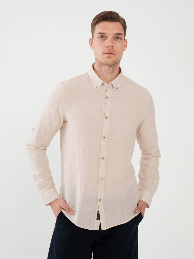 Keten Slim Fit Gömlek