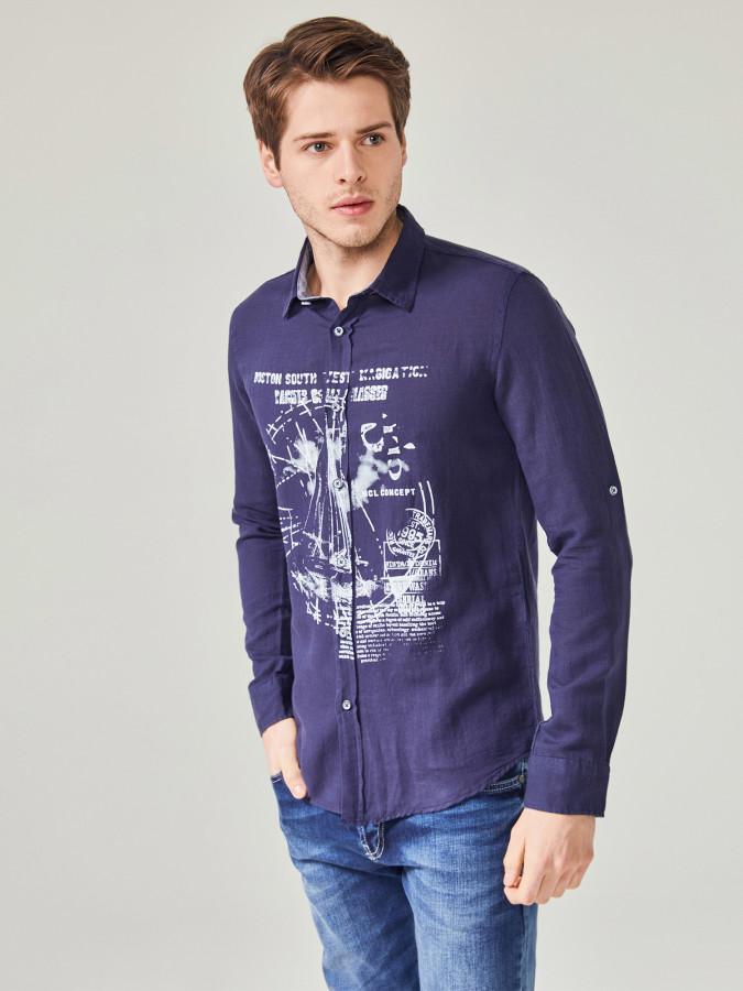 MCL - MCL Regular Fit Baskılı Gömlek
