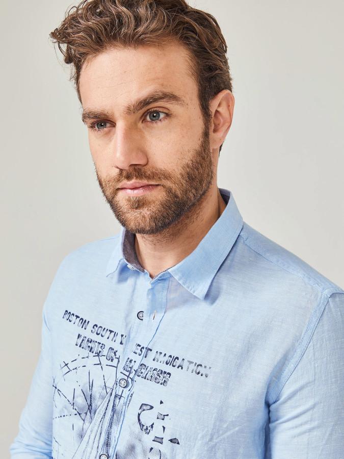 MCL - MCL Regular Fit Baskılı Gömlek (1)
