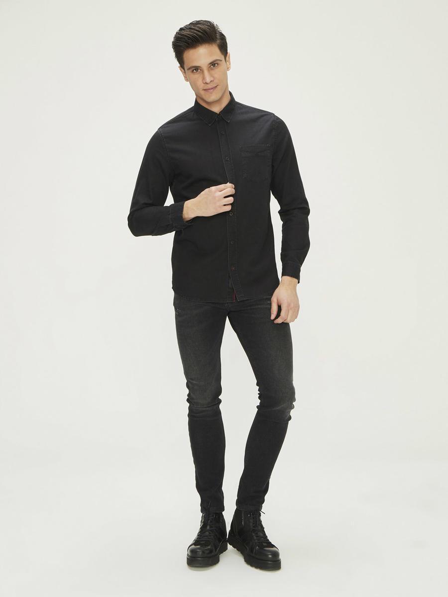 %100 Pamuk Slim Fit Denim Gömlek