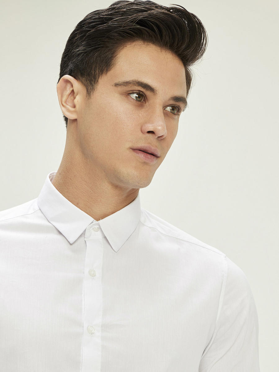 Slim Fit Pamuklu Basic Gömlek