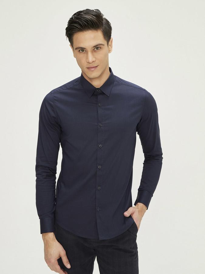 XINT - Xint Erkek Yaka Likralı Basic Gömlek (1)