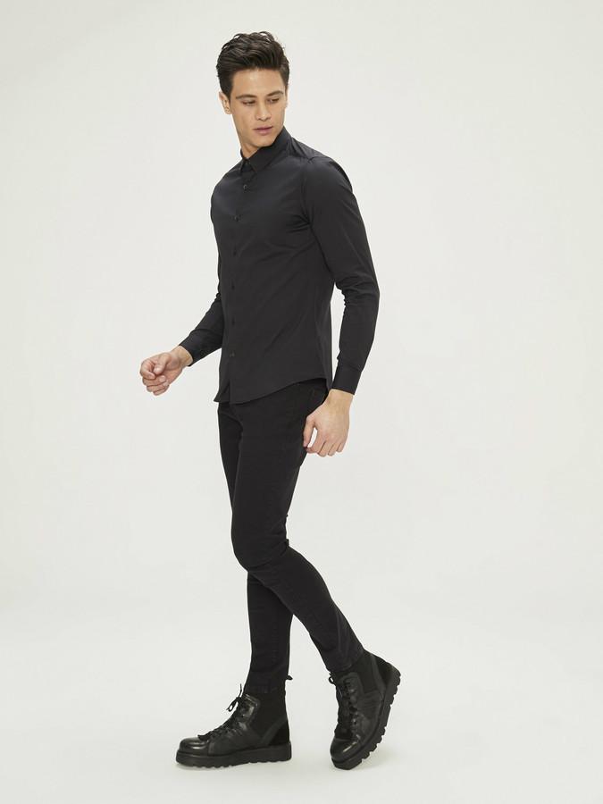 XINT - Xint Erkek Yaka Likralı Gömlek (1)