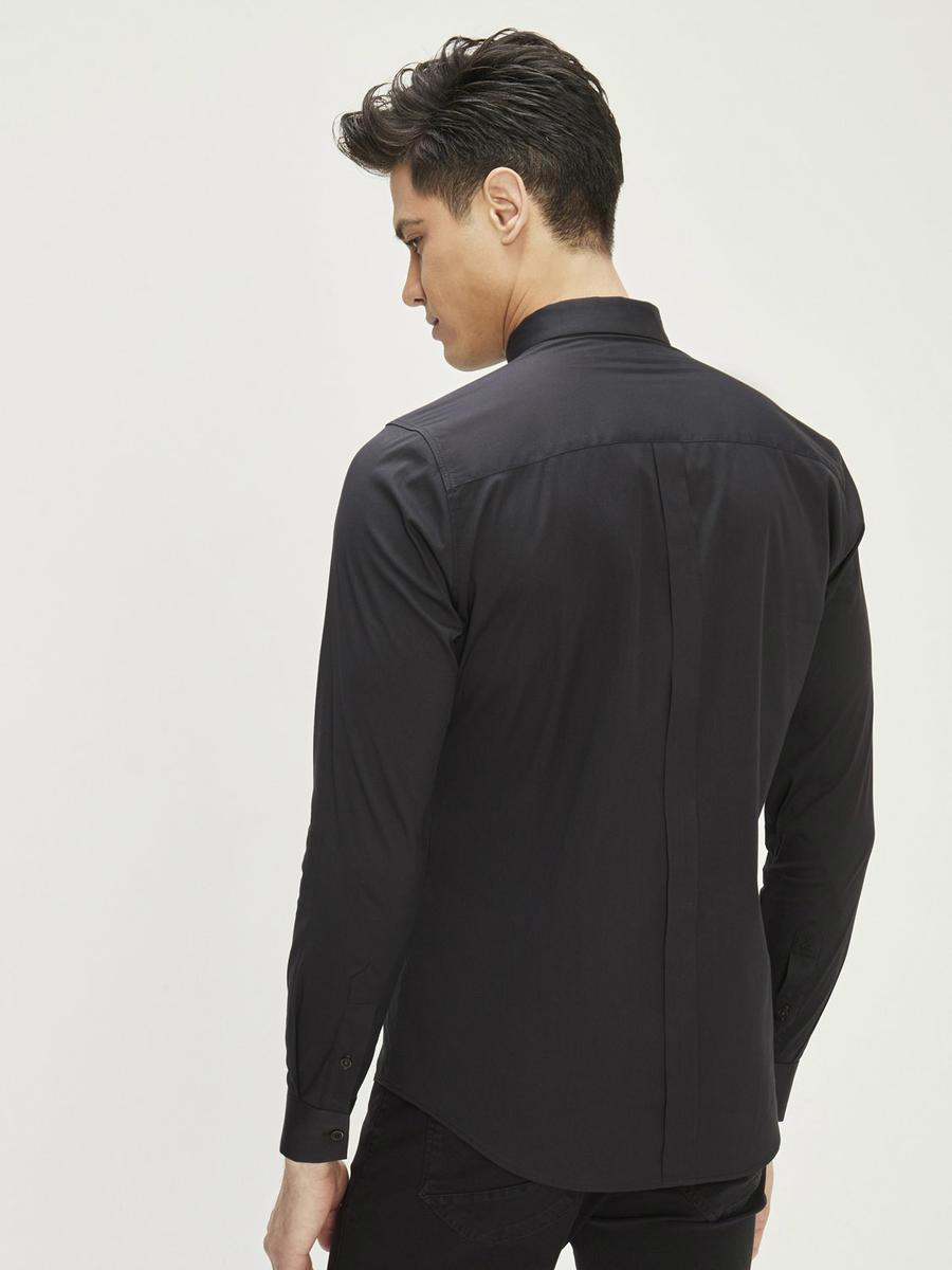 Xint Erkek Yaka Likralı Basic Gömlek