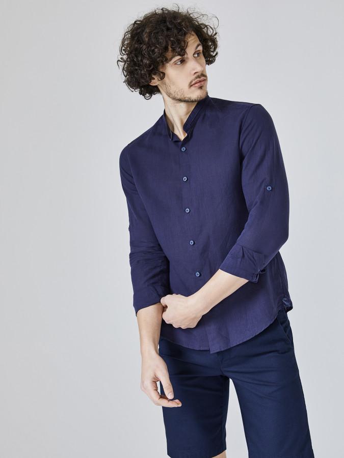 XINT - Xint Hakim Yaka %100 Keten Gömlek