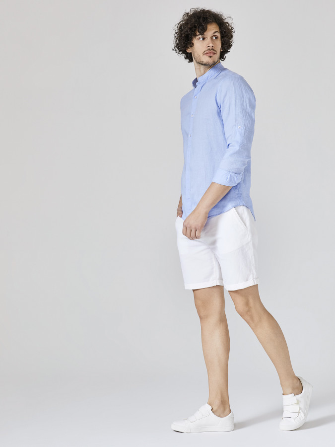 XINT - Xint Hakim Yaka %100 Keten Gömlek (1)
