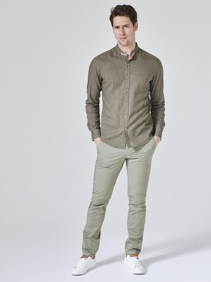 XINT - Xint Keten Pamuk Karışımlı Gömlek (1)