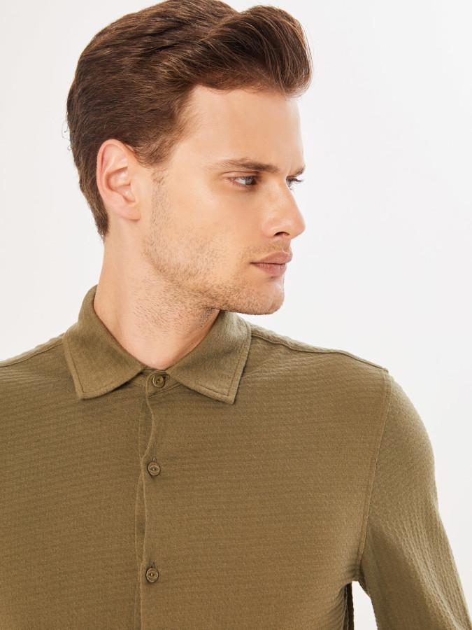Xint Klasik Yaka Slim Fit Gömlek - Thumbnail