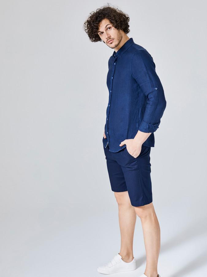 XINT - Xint Slim Fit %100 Keten Gömlek (1)