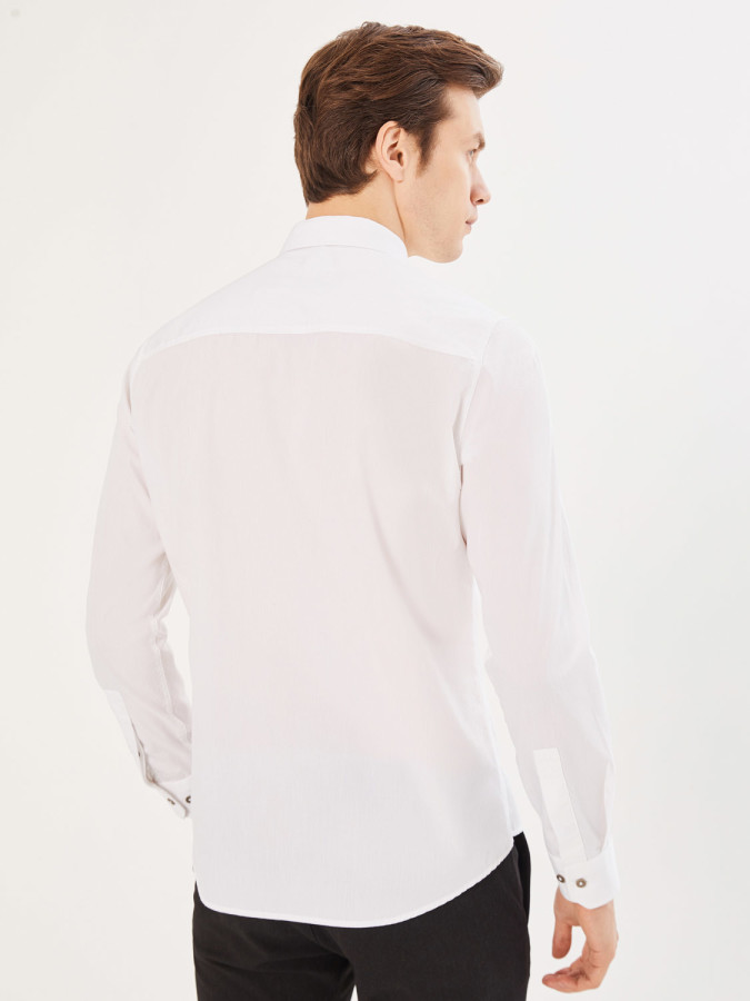 Xint Slim Fit Baskılı Gömlek - Thumbnail
