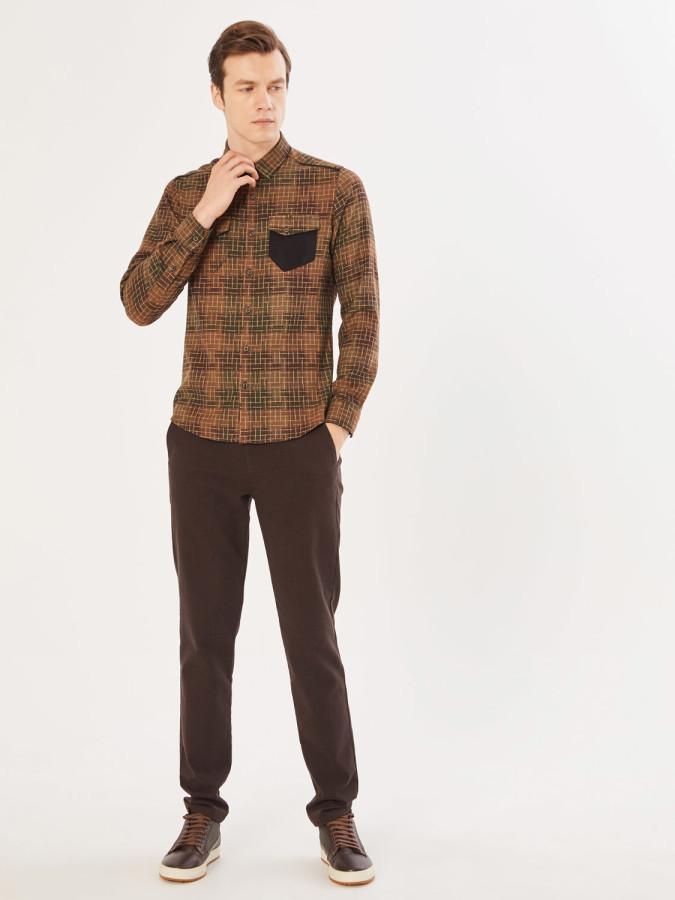 XINT - Xint Slim Fit Desenli Gömlek (1)