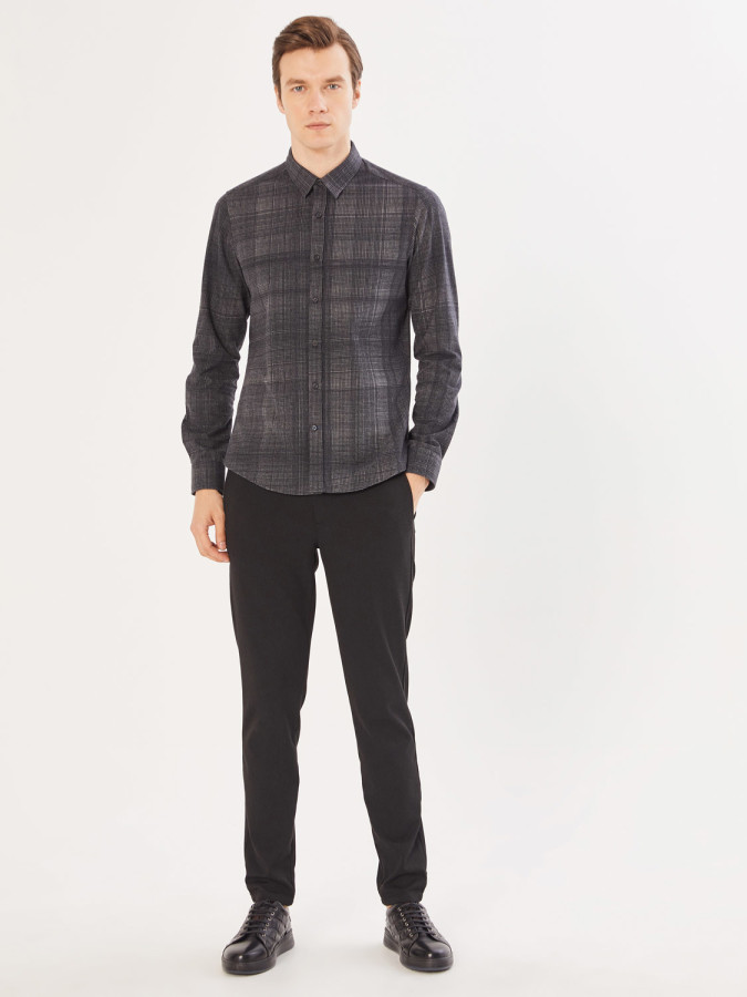 XINT - Xint Slim Fit Desenli Gömlek