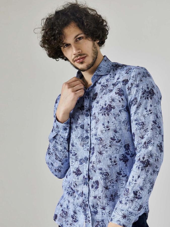 XINT - Xint Slim Fit Desenli %100 Pamuk Gömlek