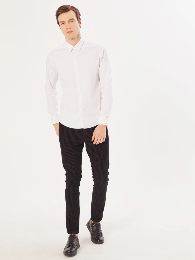 XINT - Xint Slim Fit Dikiş Detaylı Gömlek (1)