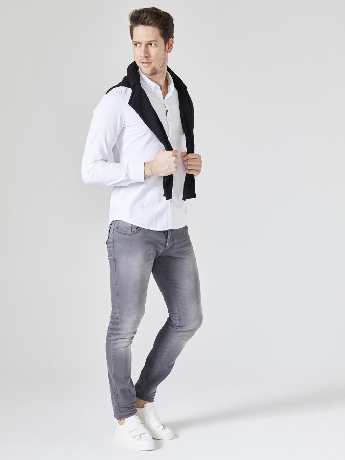 XINT - Xint Slim Fit %100 Pamuk Gömlek (1)