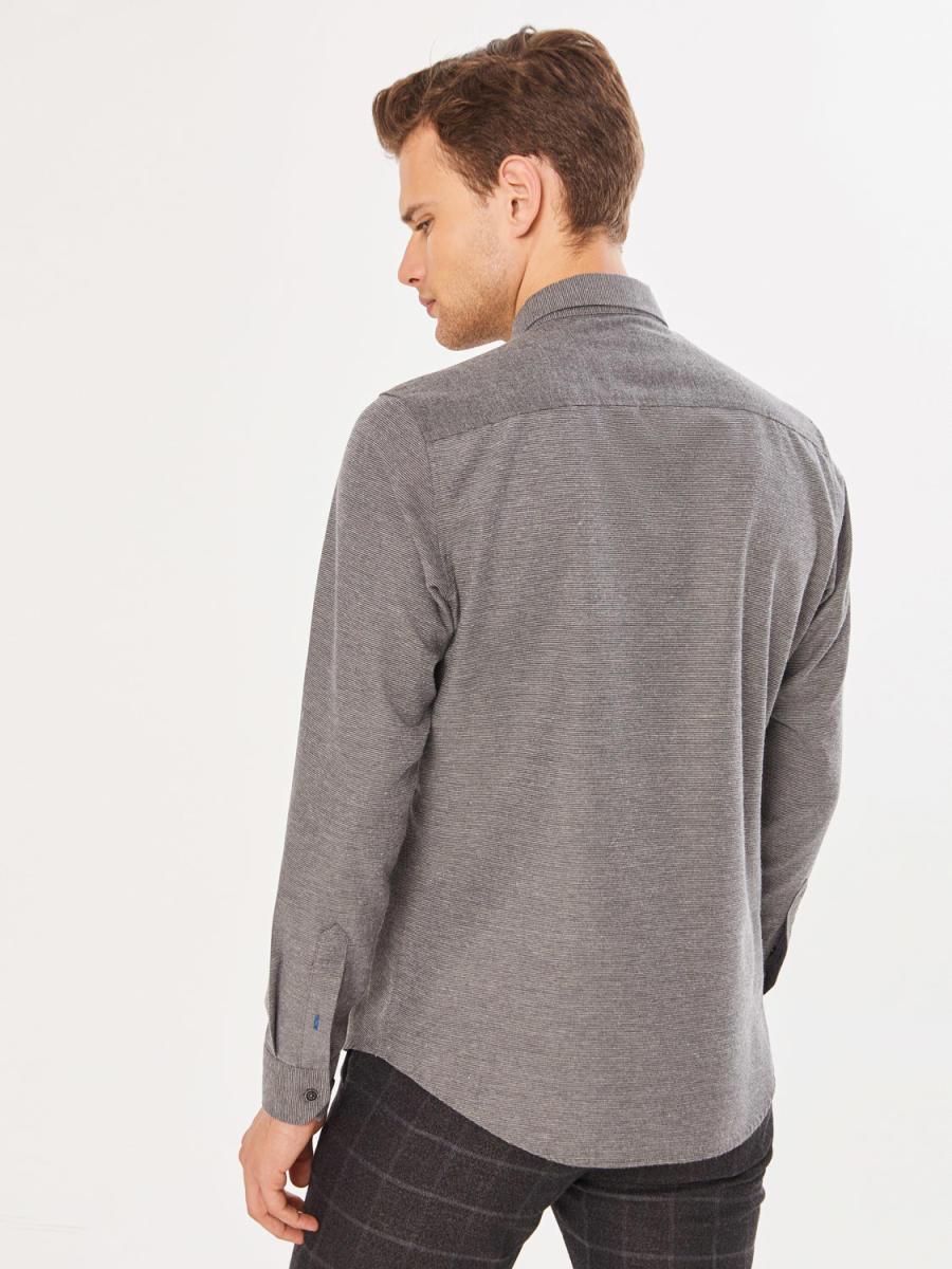Xint Slim Fit Garni Kumaş Detaylı Gömlek