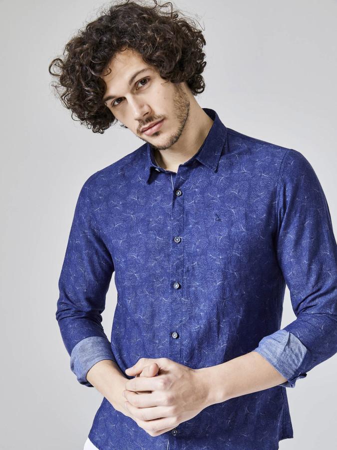 XINT - Xint Slim Fit Keten Pamuk Karışımlı Gömlek
