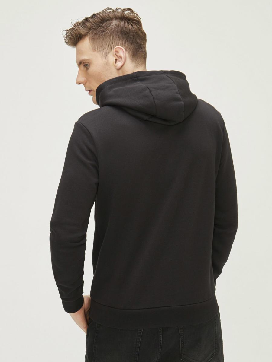 Baskılı Kapüşonlu Pamuklu Sweatshirt