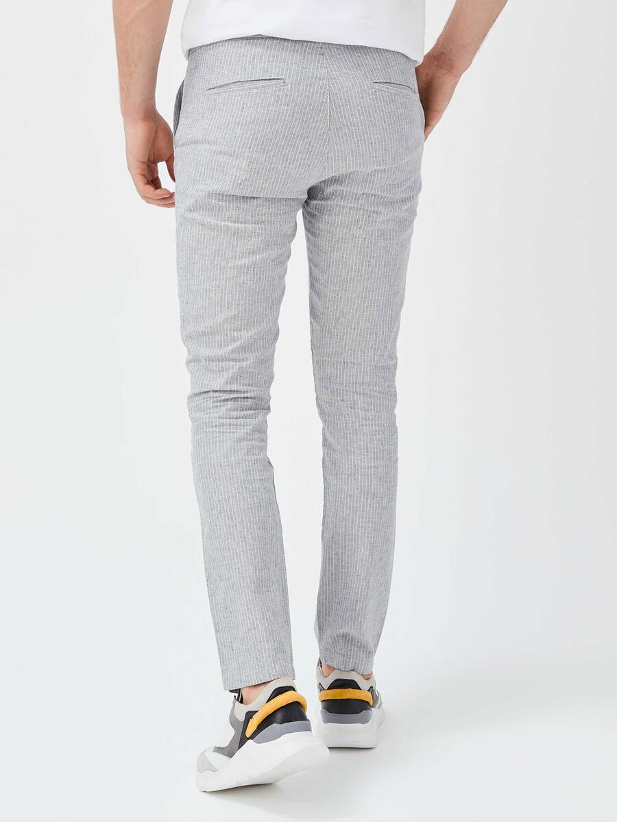Keten Slim Fit Pantolon