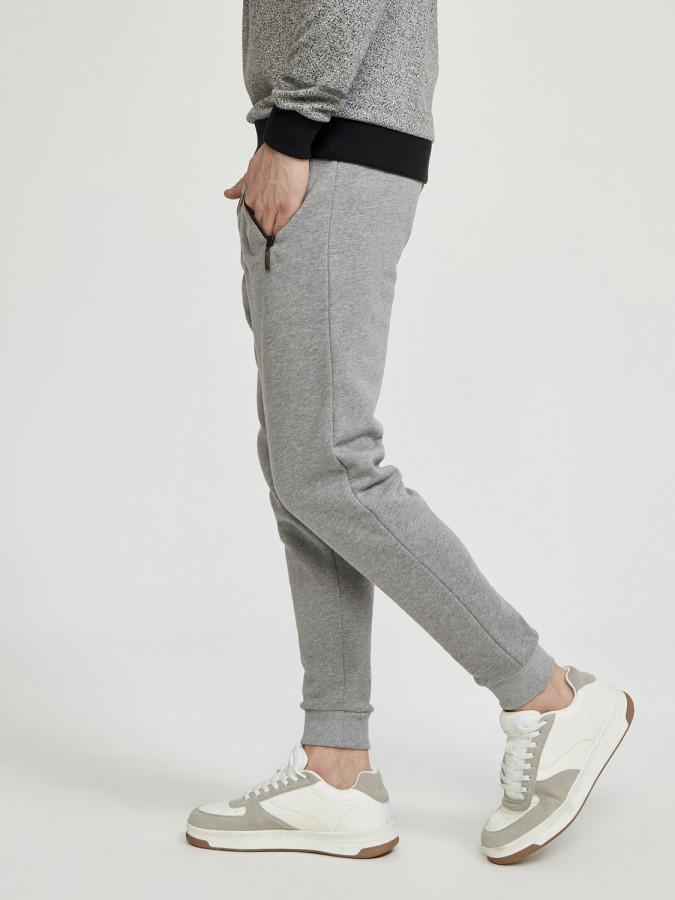 Fermuar Cepli Pamuklu Sweat Pantolon