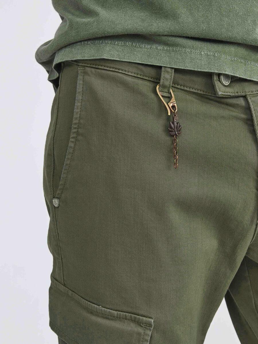 Pamuklu Slim Fit Kargo Pantolon