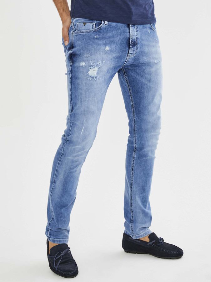 Xint 5 Cep Dar Kesim Denim Pantolon