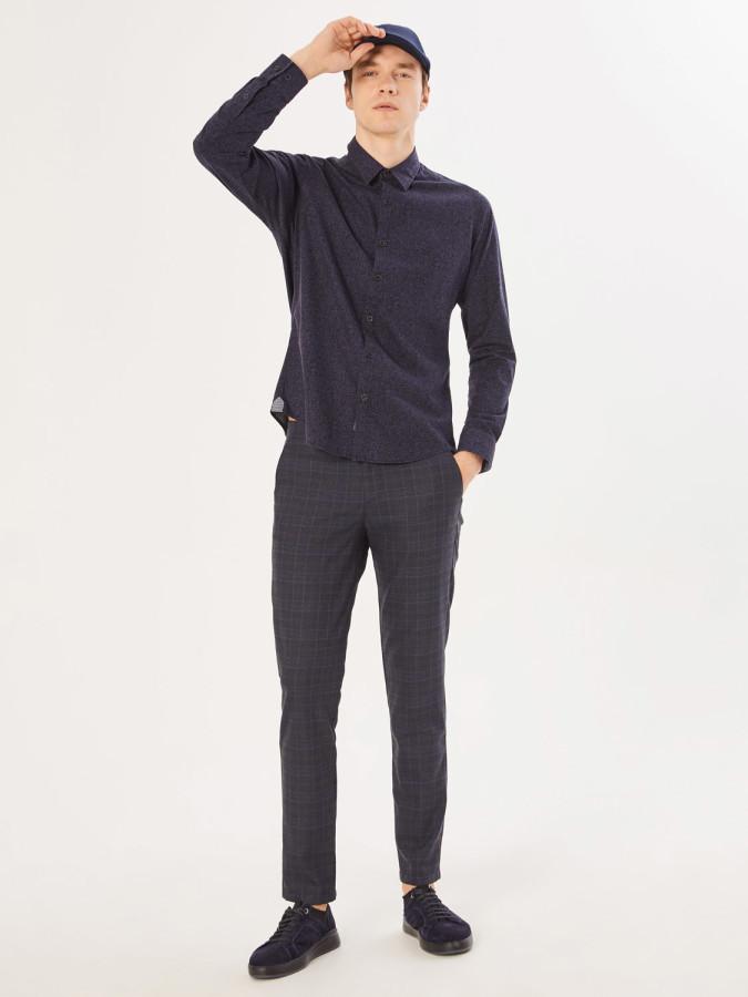 XINT - Xint V Cep Desenli Slim Fit Chino Pantolon (1)