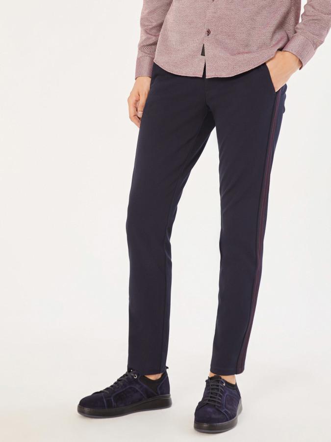XINT - Xint V Cep Şeritli Slim Fit Chino Pantolon (1)