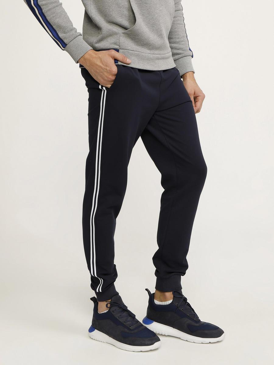 Slim Fit Çizgili Pamuklu Sweat Pantolon