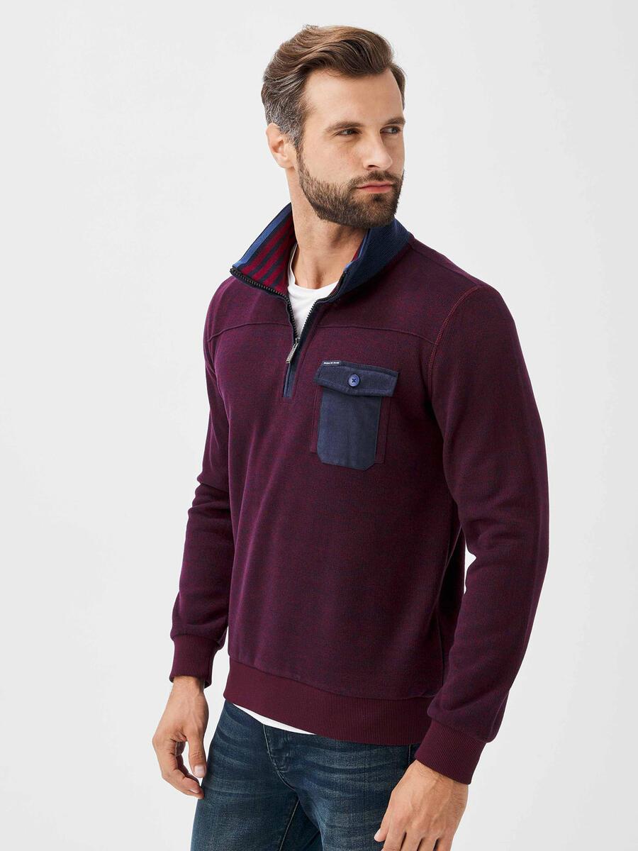 Fermuarlı Yarım Balıkçı Yaka Pamuklu Sweatshirt