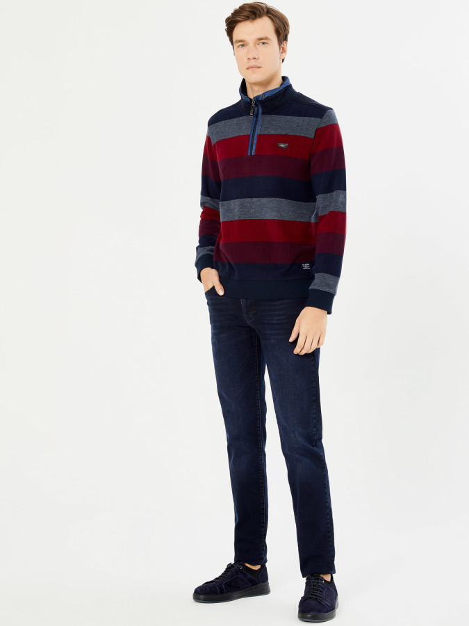 MCL - MCL Dik Fermuar Kapamalı Sweatshirt