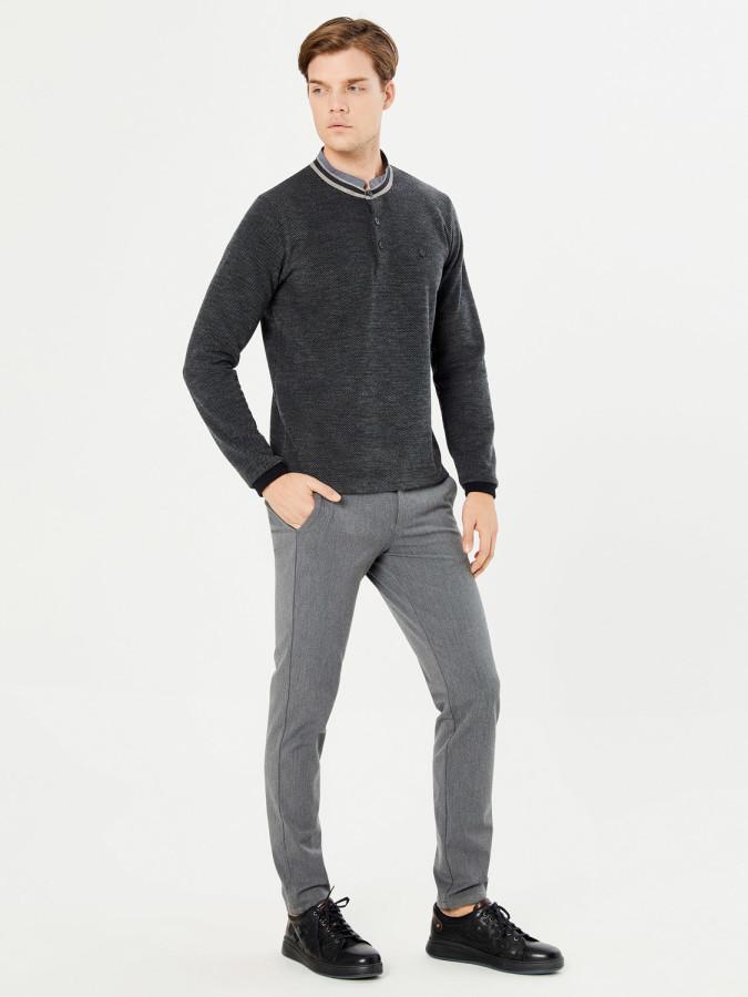 MCL - MCL Dik Fermuar Yakalı Sweatshirt (1)