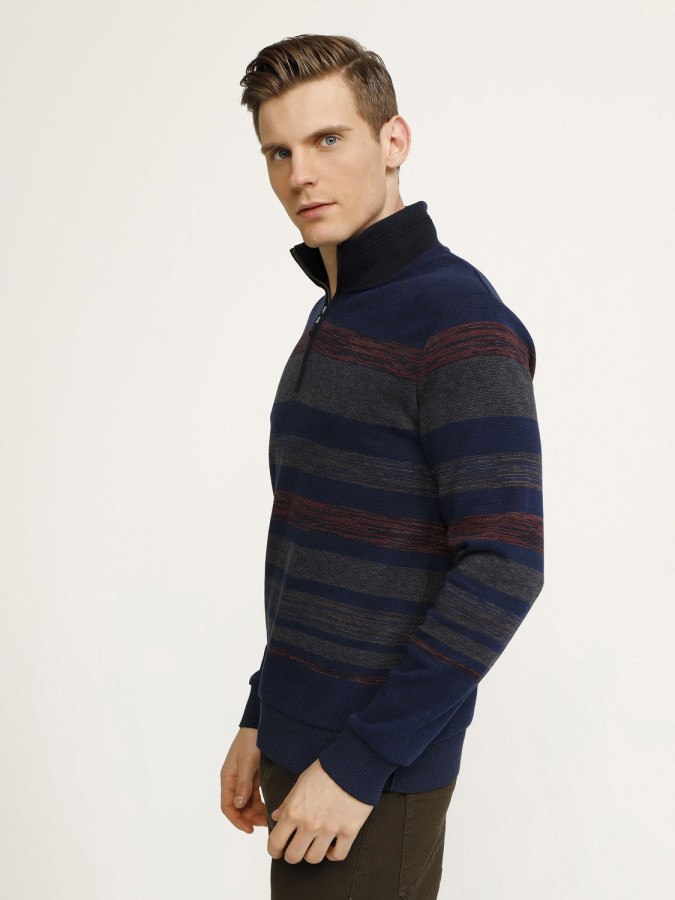 MCL - MCL Dik Yaka Fermuarlı Sweatshirt (1)