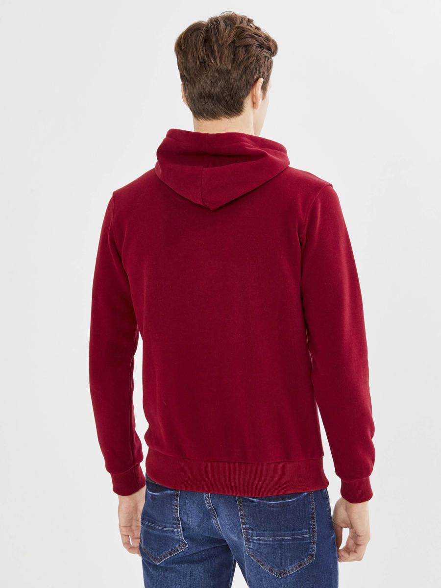 Kapüşonlu Cepli Pamuklu Büyük beden Sweatshirt