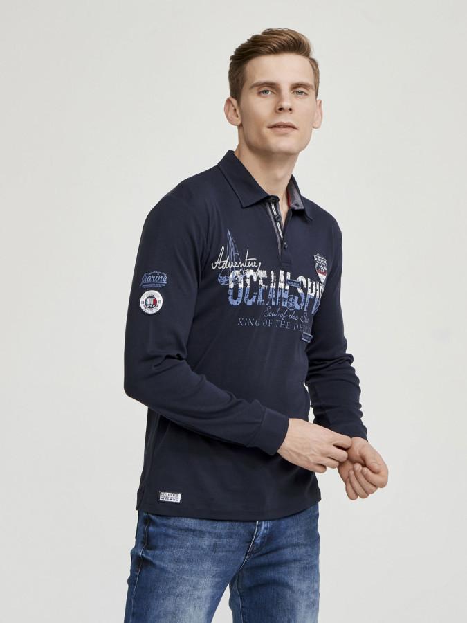MCL - MCL Polo Yaka Baskılı Sweatshirt (1)