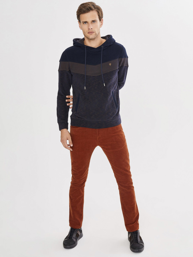 MCL - MCL Şal Yaka Kapüşonlu Sweatshirt (1)