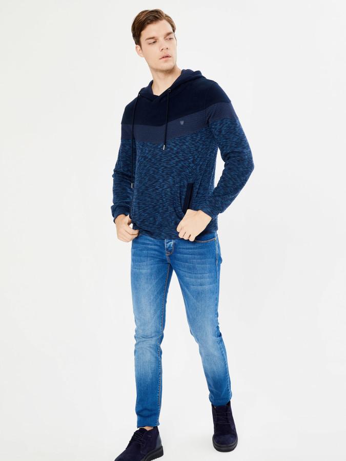 MCL - MCL Şal Yaka Kapüşonlu Sweatshirt
