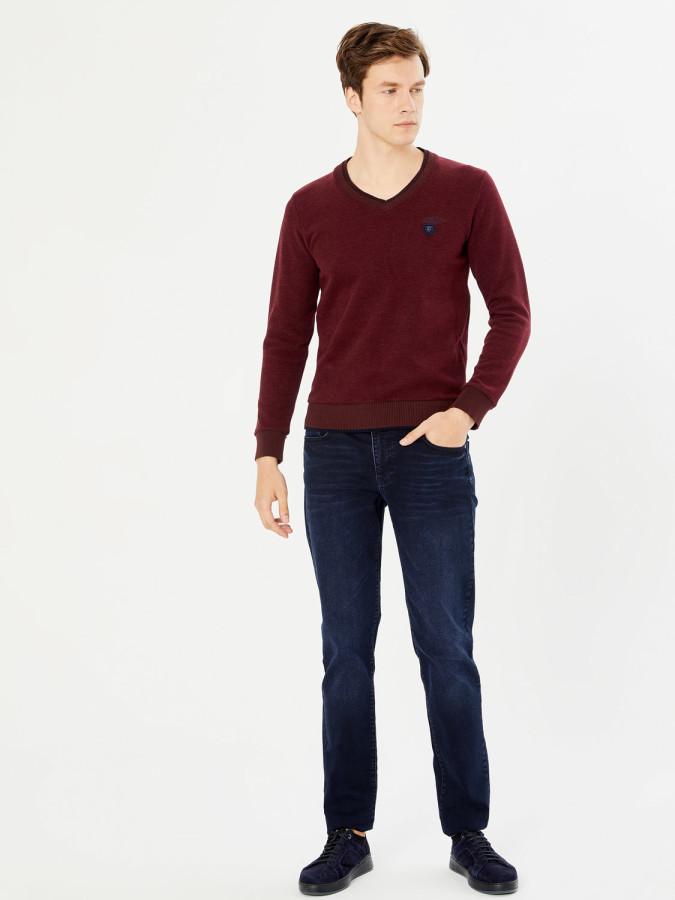 MCL - MCL V Yaka Regular Fit Sweatshirt (1)