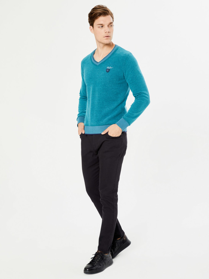 MCL - MCL V Yaka Regular Fit Sweatshirt (1)