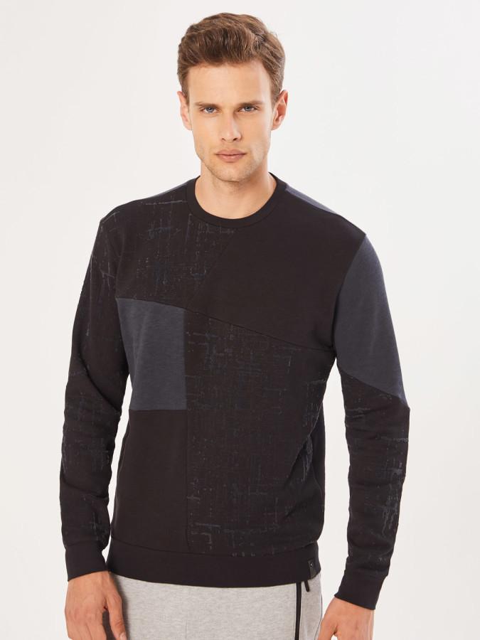 XINT - Xint Bisiklet Yaka Baskı Ve Garni Detaylı Sweatshirt (1)