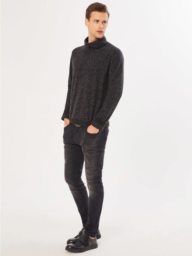 XINT - Xint Boğazlı Şal Yaka Sweatshirt (1)