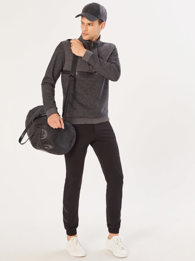 XINT - Xint Dik Yaka Fermuarlı Sweatshirt