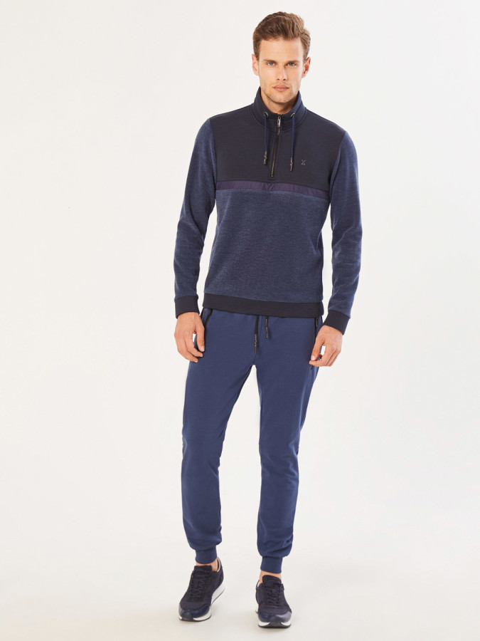 XINT - Xint Dik Yaka Fermuarlı Sweatshirt (1)